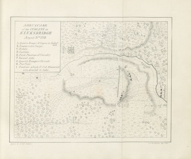 """map from """"[A Journal of the operations of the Queen's Rangers from the end of ... 1777 to the conclusion of the late American War. L.P.]"""""""