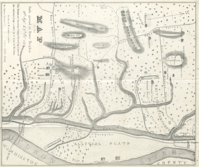 """map from """"An original, compiled and corrected account of Burgoyne's campaign, and the memorable battles of Bemis's Heights, Sept. 19. and Oct. 7, 1777, etc"""""""