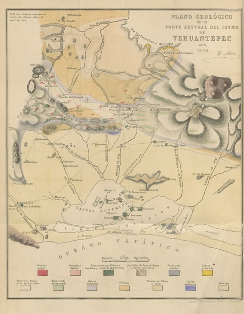 """map from """"Survey of the Isthmus of Tehuantepec, executed in ... 1842 and 1843, with the intent of establishing a communication between the Atlantic and Pacific Oceans, and under the superintendence of a Scientific Commission appointed by ... J. de Garay"""""""