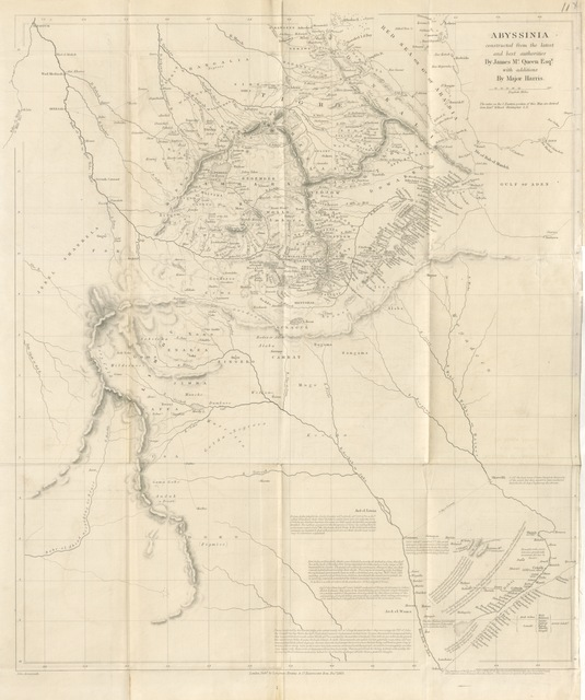 """map from """"The Highlands of Aethiopia"""""""