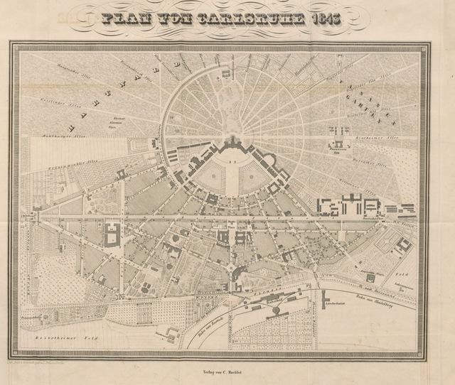 """map from """"Universal-Lexikon vom Grossherzogthum Baden. Bearbeitet und herausgegeben von einer Gesellschaft von Gelehrten und Vaterlandsfreunden [or rather, by Eugen Huhn]. Mit 14 Stahlstichen, 8 Planen und 6 Tabellen"""""""