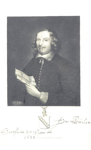 "portrait from ""[Chronicles of the Pilgrim Fathers of the Colony of Plymouth, from 1602 to 1625. Now first collected from original records and contemporaneous printed documents, and illustrated with notes.]"""