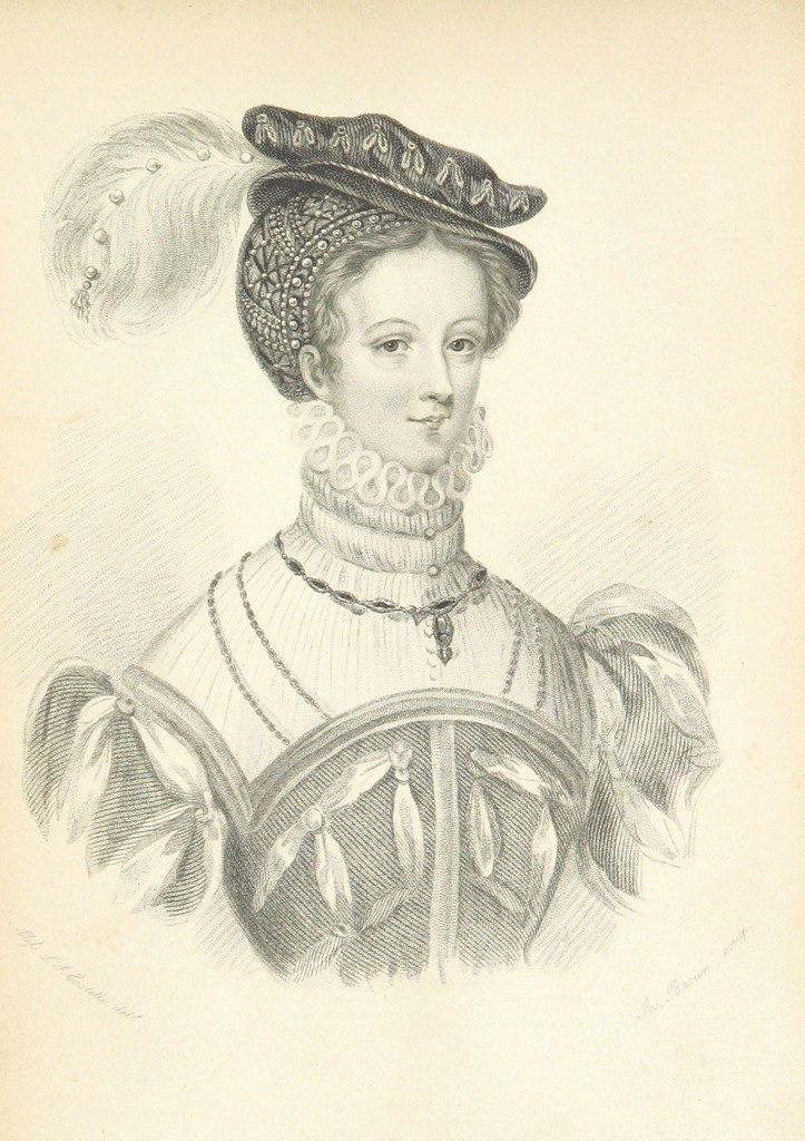 """portrait from """"Memoirs of Mary Stuart, Queen of Scotland. [With portraits.]"""""""