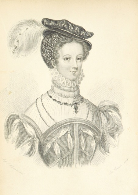 "portrait from ""Memoirs of Mary Stuart, Queen of Scotland. [With portraits.]"""