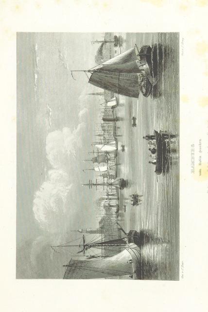 """ship from """"Hamburg und seine Umgebungen, im 19teⁿ Jahhrundert ... Text vom Oberauditeur F. G. Buek. (Nach der Natur gezeichnet von Carl Alex. Lill u. A.)"""""""