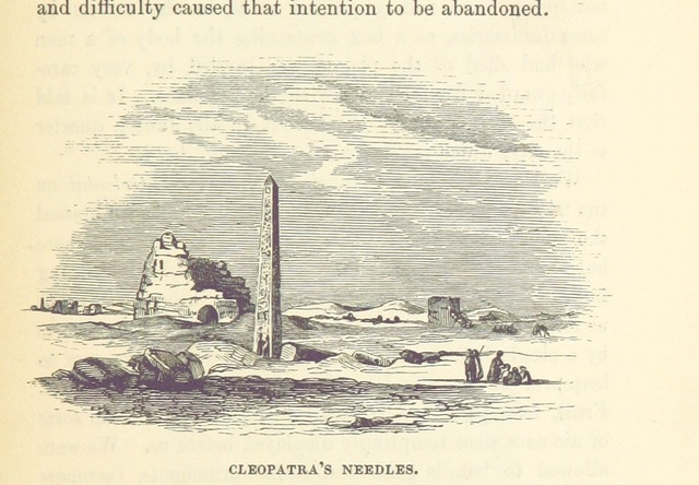"Cleopatra's Needle from ""The Anglo-Indian Passage, homeward and outward; or a Card for the Overland Traveller from Southampton, to Bombay, Madras and Calcutta. With letters descriptive of the homeward passage, and notices of Gibraltar, Malta, etc"""