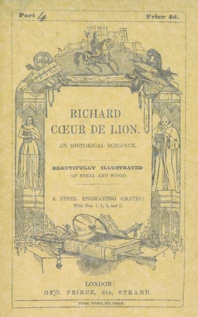 """cover from """"Richard Cœur de Lion. An historical romance"""""""