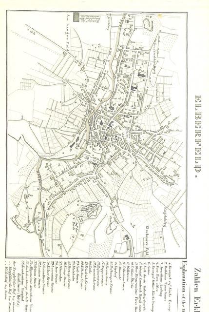 """Elberfeld from """"Rheinischer Städte-Atlas. Enthaltend die speciellen Grundrisse von Amsterdam, dem Haag, Rotterdam, etc. Nebst einer historischen Einleitung über diese Gegenden von Dr E. D., etc"""""""