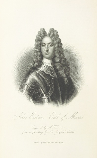 """engraving by S. Freeman from a painting by Sir Godfrey Kneller from """"[A History of the Highlands and of the Highland Clans ... Illustrated by a series of portraits and other engravings. [With a map.]]"""""""