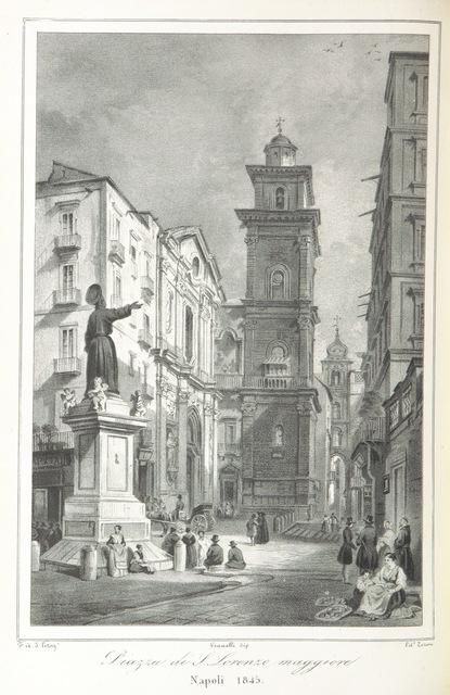 """engraving from """"Napoli e i luoghi celebri delle sue vicinanze. ([Compiled by order of the Neapolitan ministry of home affairs by] G. B. Ajello, S. Aloe, R. d'Ambra, M. d'Ayala, C. Bonucci, C. Dalbono, F. Puoti, B. Quarunta.)"""""""
