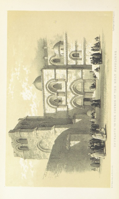 """entrance from """"The Holy City: or, historical and topographical notices of Jerusalem; with some account of its antiquities and of its present condition"""""""