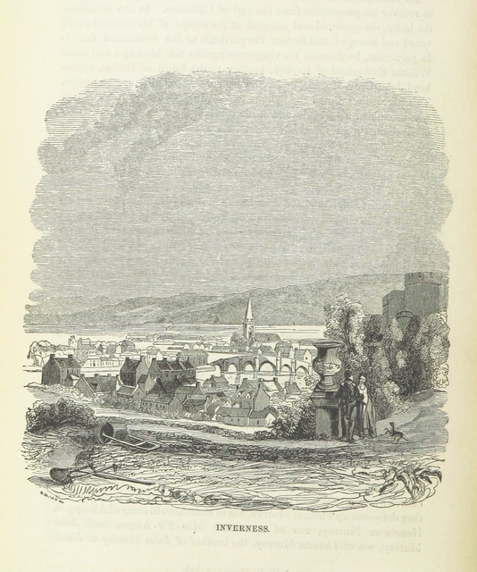 """Inverness from """"[A History of the Highlands and of the Highland Clans ... Illustrated by a series of portraits and other engravings. [With a map.]]"""""""