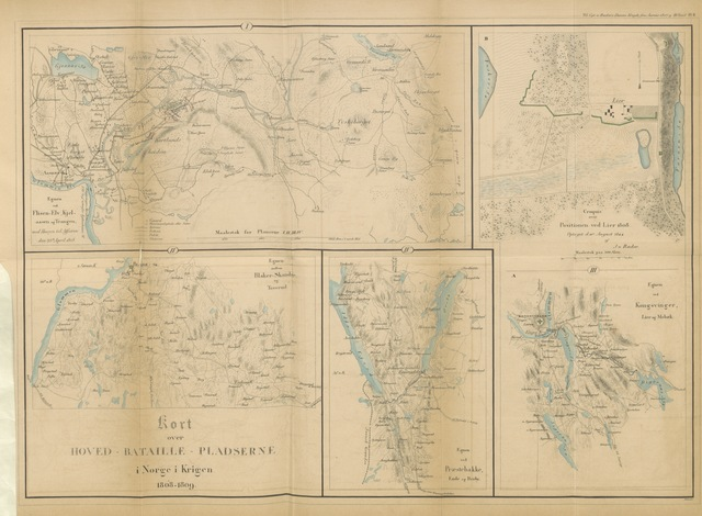 """map from """"Danmarks Krigs- og Politiske Historie, fra ... 1807 til Treden til Jönkjöping ... 1809"""""""