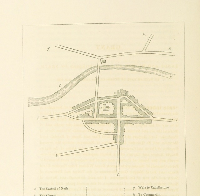 "map from ""Original Charters and Materials for a History of Neath and its Abbey, with illustrations; now first collected. L.P"""