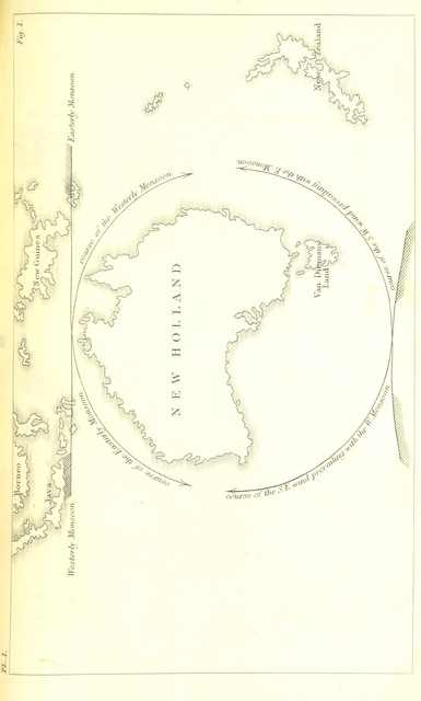"map from ""Physical description of New South Wales and Van Diemen's land"""