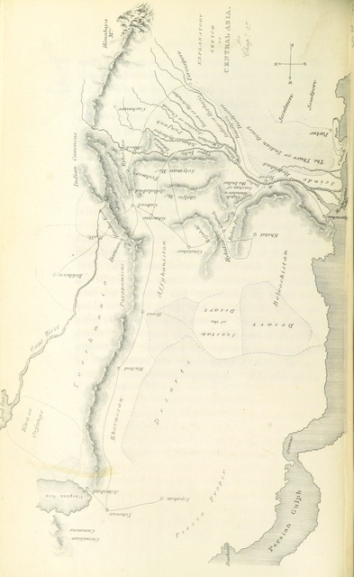 "map from ""The conquest of Scinde, with some introductory passages in the life of Major-General Sir Charles James Napier"""
