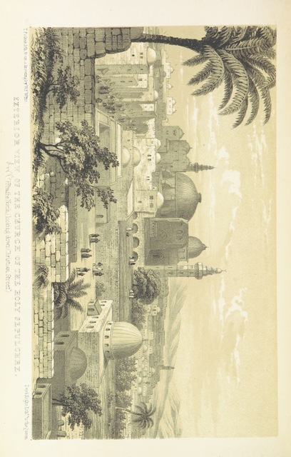 """Old City from """"The Holy City: or, historical and topographical notices of Jerusalem; with some account of its antiquities and of its present condition"""""""
