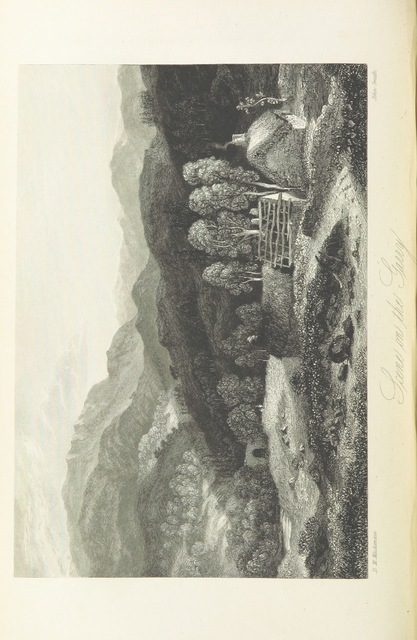 """River Garry from """"[A History of the Highlands and of the Highland Clans ... Illustrated by a series of portraits and other engravings. [With a map.]]"""""""