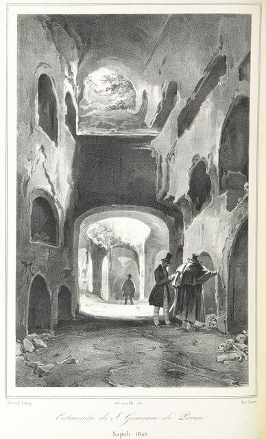 """Underground from """"Napoli e i luoghi celebri delle sue vicinanze. ([Compiled by order of the Neapolitan ministry of home affairs by] G. B. Ajello, S. Aloe, R. d'Ambra, M. d'Ayala, C. Bonucci, C. Dalbono, F. Puoti, B. Quarunta.)"""""""