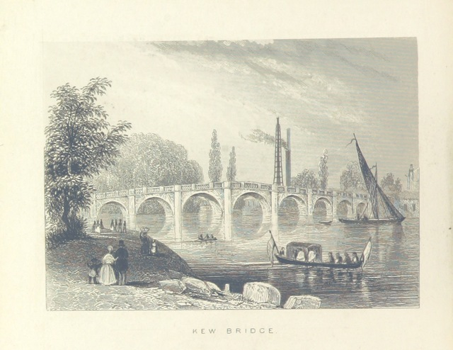 "bridge from ""Illustrated London, or, a series of views in the British metropolis and its vicinity, engraved by Albert Henry Payne, from original drawings. The historical, topographical and miscellaneous notices, by W. I. Bicknell"""