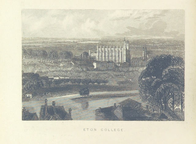 """Eton from """"Illustrated London, or, a series of views in the British metropolis and its vicinity, engraved by Albert Henry Payne, from original drawings. The historical, topographical and miscellaneous notices, by W. I. Bicknell"""""""