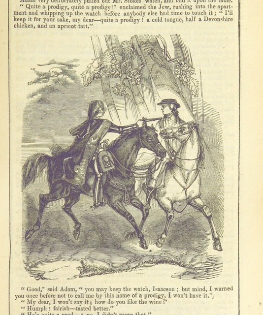 """Horse from """"Newgate. A romance. [By J. M. Rymer.]"""""""