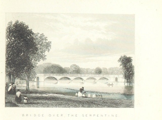 """Hyde Park from """"Illustrated London, or, a series of views in the British metropolis and its vicinity, engraved by Albert Henry Payne, from original drawings. The historical, topographical and miscellaneous notices, by W. I. Bicknell"""""""