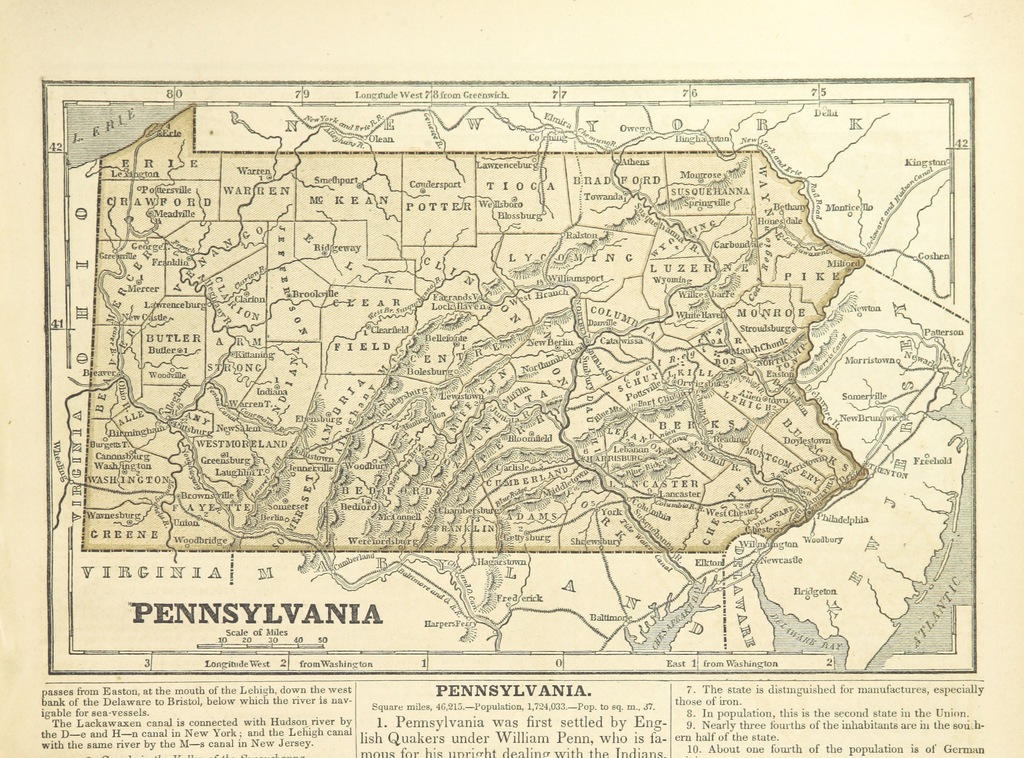 """map from """"A System of Geography, for the use of Schools. Illustrated with more than fifty cerographic maps, and numerous wood-cut engravings"""""""
