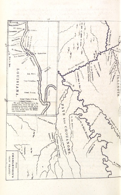 "map from ""Annals of the West: embracing a concise account of principal events which have occurred in the Western States ... from the discovery of the Mississipi Valley to the year eighteen hundred and forty five, etc"""