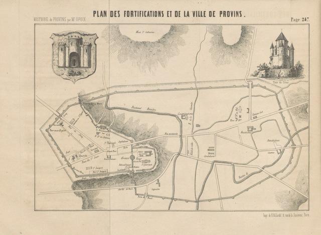 """map from """"[Histoire et description de Provins.]"""""""