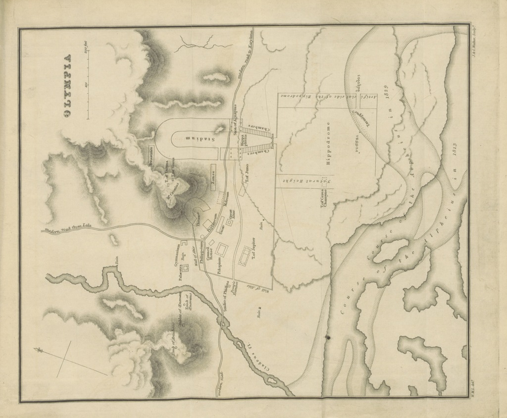 """map from """"Peloponesiaca; a supplement to Travels in the Morea"""""""