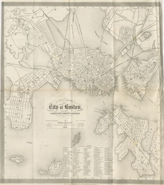 "map from ""Report to the Committee of the City Council appointed to obtain the census of Boston for the year 1845, embracing collateral facts and statical researches, illustrating the history and condition of the population, and their means of progress and prosperity"""
