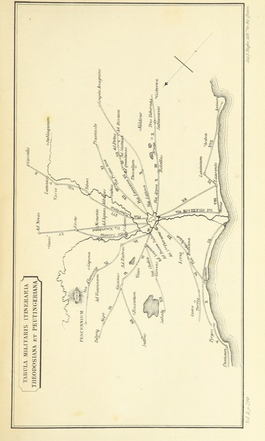"""map from """"The Topography of Rome and its Vicinity ... A new edition, revised and enlarged by Edward Herbert Bunbury. [With plans.]"""""""