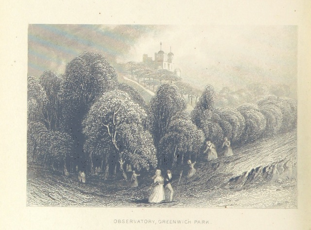 """Royal Observatory from """"Illustrated London, or, a series of views in the British metropolis and its vicinity, engraved by Albert Henry Payne, from original drawings. The historical, topographical and miscellaneous notices, by W. I. Bicknell"""""""