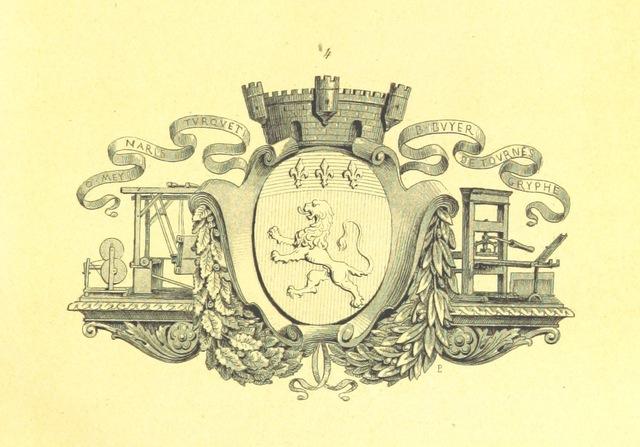 """coat of arms from """"Histoire de la ville de Lyon ... Revue par C. Breghot, du Lut et A. Pericaud"""""""