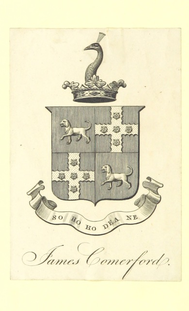 """coat of arms from """"Sayer's History of Westmoreland, containing the substance of all the remarkable events recorded by Burn and Nicolson, together with a variety of ... information from ancient MSS. ... With illustrations by T. Gilks"""""""