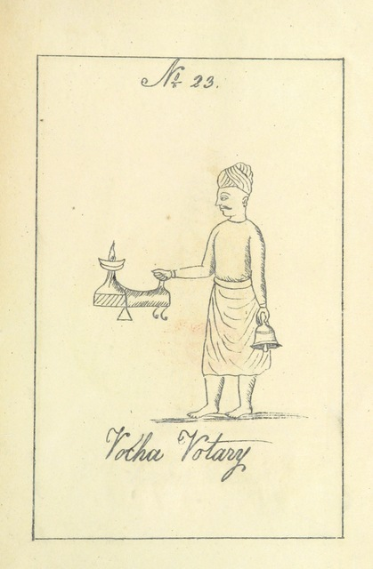 "ethnology from ""A Digest of the different castes of the Southern Division of Southern India. With description of their habits, customs [and 50 lithographed plates], etc. no. 1"""