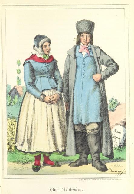 """folk_costume from """"Das Deutsche Volk in seinen Mundarten, Sitten, Gebräuchen, Festen und Trachten ... Mit 50 kolorirten Bildern"""""""