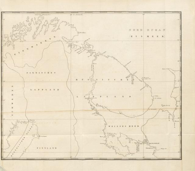 """map from """"Tradescant der aeltere in Russland. Der Handelsverkehr zwischen England und Russland in seiner Entstehung. Rückblick auf einige der älteren Reisen im Norden"""""""