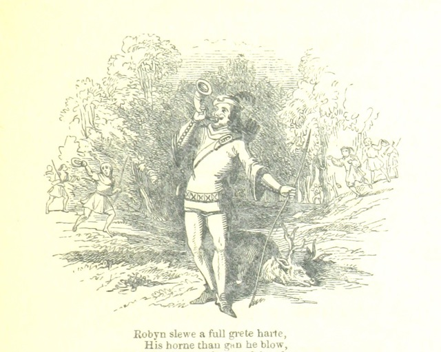 """Robin Hood from """"A Lytell Geste of Robin Hode, with other ancient & modern ballads and songs relating to this celebrated yeoman. To which is prefixed his history and character, grounded upon other documents than those made use of by ... """"Mister Ritson."""" Edited by J. M. Gutch"""""""