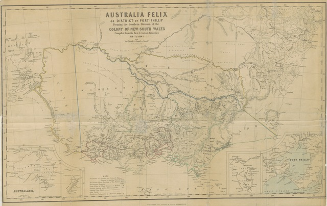 "Australia Felix from ""Australia Felix; or a historical and descriptive account of the Settlement of Port Phillip, New South Wales; including full particulars of the manners and condition of the aboriginal natives; with observations on emigration, on the system of transportation; and on colonial policy"""