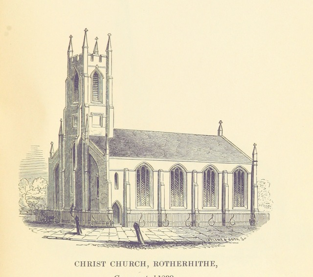 "church from ""A short Account of the Churches, Schools and Charities in the Parish of St. Mary, Rotherhithe"""