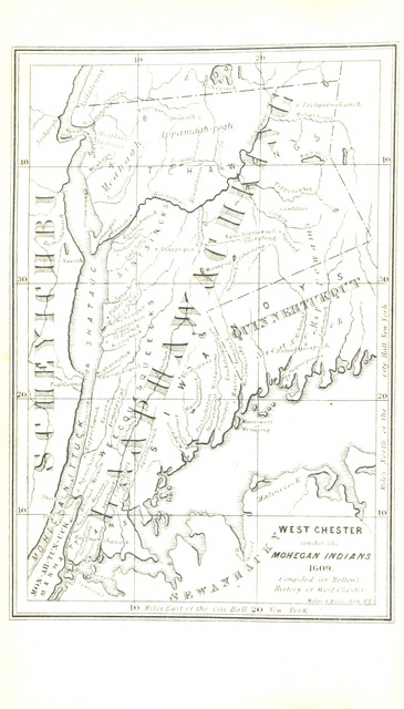 "map from ""A History of the County of Westchester, from its first settlement to the present time"""