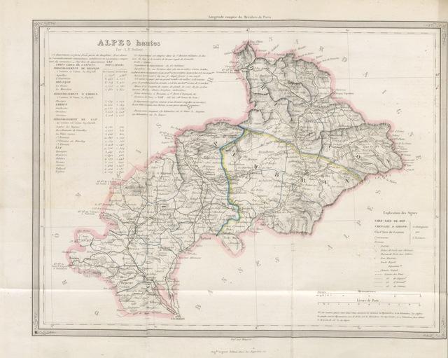 """map from """"[Histoire, antiquités, ... des Hautes-Alpes ... [By the Baron de Ladonne.]]"""""""