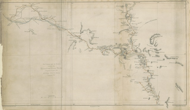 """map from """"Journal of an expedition into the interior of tropical Australia, in search of a route from Sydney to the Gulf of Carpentaria"""""""