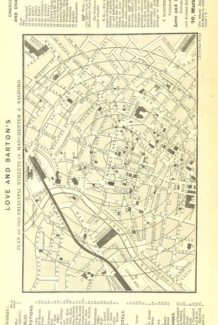 "map from ""Love and Barton's Manchester Exchange Directory of 1848, etc"""