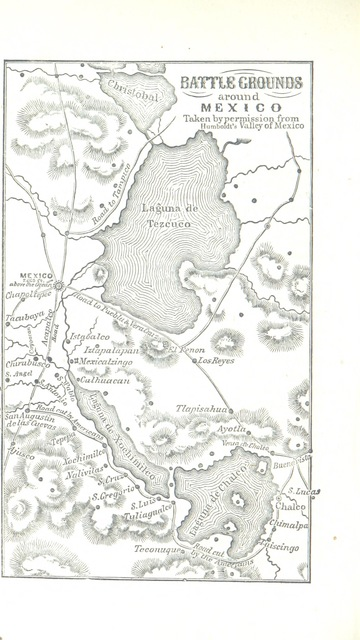"map from ""The Mexican War: a history of its origin, and a detailed account of the victories which terminated in the surrender of the capital; with the official despatches of the Generals"""