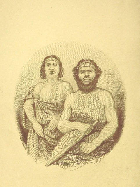 "portrait from ""Australia Felix; or a historical and descriptive account of the Settlement of Port Phillip, New South Wales; including full particulars of the manners and condition of the aboriginal natives; with observations on emigration, on the system of transportation; and on colonial policy"""