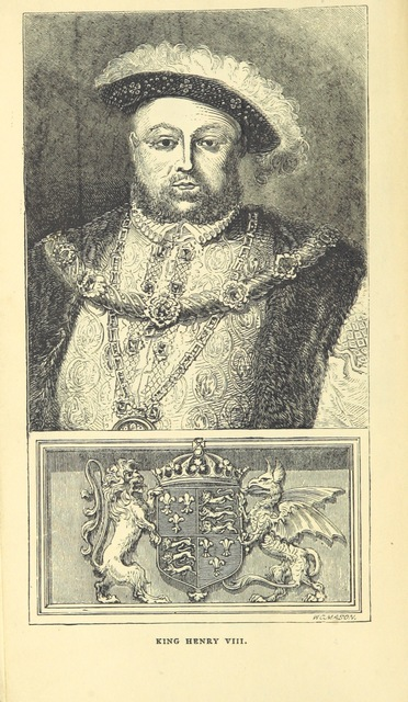 """portrait from """"The Stranger's Guide to Hampton Court Palace, etc"""""""