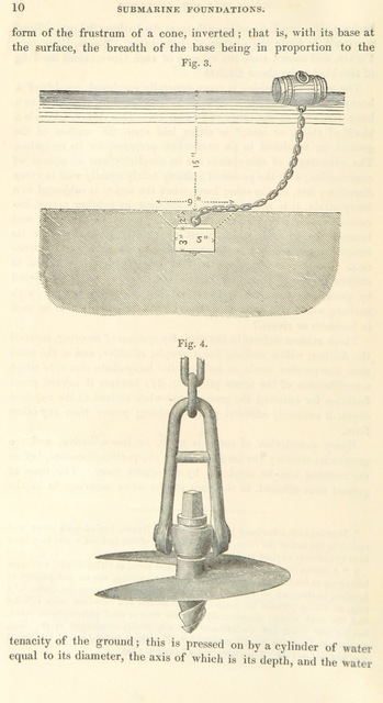 "technology from ""On submarine foundations, particularly the screw-pile and moorings, by A. Mitchell. And an account of the Maplin Sand lighthouse, by J. B. Redman. With abstracts of the discussions upon both papers. Revised by C. Manby. Excerpt Minutes of Proceedings of the Institution of Civil Engineers"""